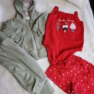 Baby Girl Lot of 2 Outfits 3Months 4th of July!